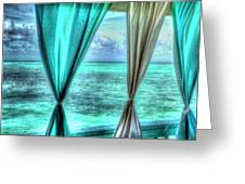 Belize Curtains #1 Greeting Card