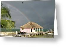 Belize Double Rainbow Greeting Card
