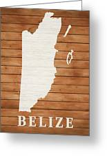 Belize Rustic Map On Wood Greeting Card