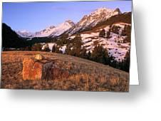Bell Mountain Sunrise Greeting Card