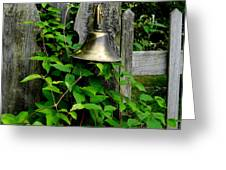 Bell On The Garden Gate  Greeting Card