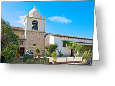 Bell Tower  In Carmel Mission-california  Greeting Card