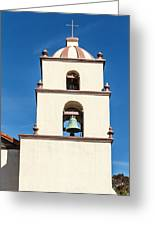 Bell Tower Mission San Buenaventura Greeting Card