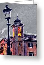 Bell Tower Of Rome Greeting Card