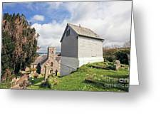 Bell Tower St Mylor Cornwall Greeting Card