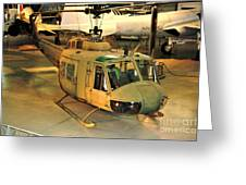Bell Uh-1h Iroquois Huey Smokey IIi Helicopter Greeting Card