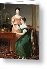 Bella And Hanna. The Eldest Daughters Of M.l. Nathanson Greeting Card