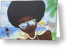Bella En Miami - Blm Greeting Card