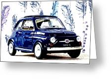 Bella Macchina 8 - Fiat 500 F Greeting Card