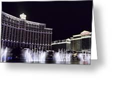 Bellagio And Caesars Palace Greeting Card