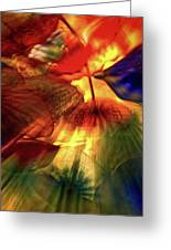 Bellagio Ceiling Sculpture Abstract Greeting Card