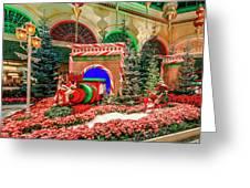 Bellagio Christmas Train Decorations Angled 2017 2 To 1 Aspect Ratio Greeting Card