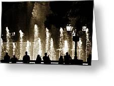 Bellagio Fountain At Night Greeting Card