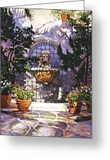 Bellagio Fountain Greeting Card by David Lloyd Glover