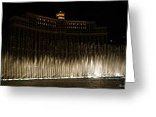 Bellagio Fountains Greeting Card