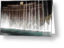 Bellagio Fountains Greeting Card