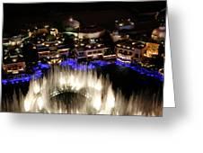 Bellagio Hotel Fountain Greeting Card