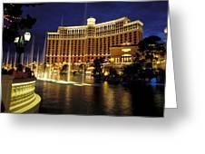 Bellagio Hotel In Las Vegas Greeting Card