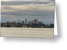 Bellevue Skyline Along Lake Washington Greeting Card