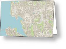Bellevue Washington Us City Street Map Digital Art By Frank Ramspott