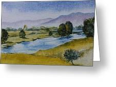 Bellinger Valley In Spring Greeting Card
