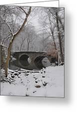 Bells Mill Bridge On A Snowy Day Greeting Card