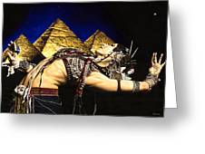 Bellydance Of The Pyramids - Rachel Brice Greeting Card