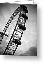 Below London's Eye Bw Greeting Card by Kamil Swiatek