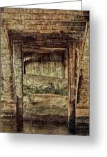 Below The Bridge Greeting Card