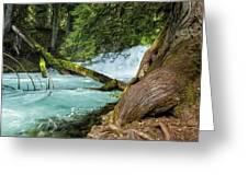 Below The Falls Greeting Card