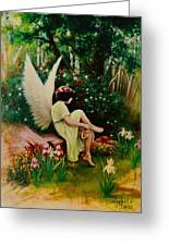 Beltaine Angel Greeting Card