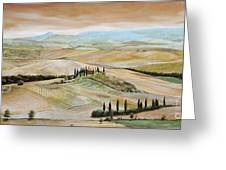 Belvedere - Tuscany Greeting Card by Trevor Neal