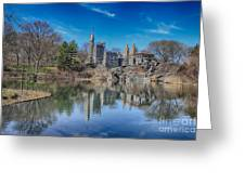 Belvedere Castle And Turtle Pond Greeting Card