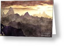 Belzoni Mountain Range Greeting Card