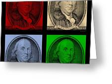Ben Franklin In Colors Greeting Card