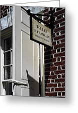 Ben Franklin Rental Sign Greeting Card