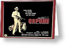 Ben Gazarra British 4 Sheet Theatrical Poster Capone 1975 Color Added 2016 Greeting Card