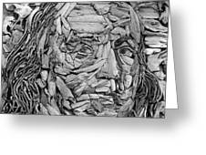 Ben In Wood B W Greeting Card