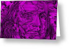 Ben In Wood Purple Greeting Card
