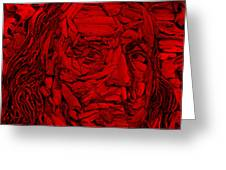 Ben In Wood Red Greeting Card