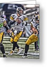Ben Roethlisberger Pittsburgh Steelers Art Greeting Card