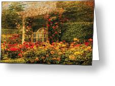 Bench - The Rose Garden Greeting Card