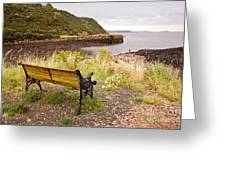 Bench At The Bay Greeting Card