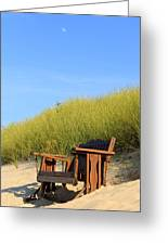 Bench At The Beach Greeting Card