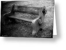 Bench By The Barn Greeting Card