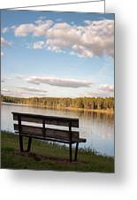 Bench By The Lake Greeting Card