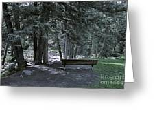 Bench By The Stream II Greeting Card