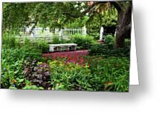 Bench In Prescott Park Greeting Card