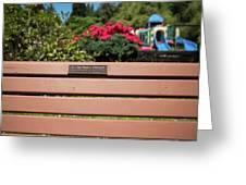 Bench In Steelhead Park Greeting Card