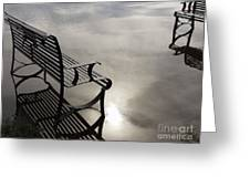 Bench In The Clouds Greeting Card
